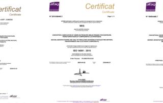 SEG Diélectriques - Afnor certification